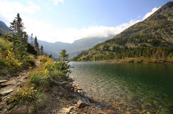The Trail Around Bertha Lake Waterton Provincial Park, Alberta, Stock Photos