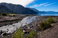 Trail around Lago Todos Los Santos, Chile Royalty Free Stock Photography