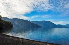 Trail around Lago Todos Los Santos, Chile Stock Photo