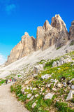 Trail around the Tre Cime in Dolomites, Italy Royalty Free Stock Images