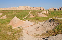 Trail into the Badlands Royalty Free Stock Photo