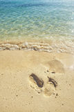 Trail on beach Stock Photography
