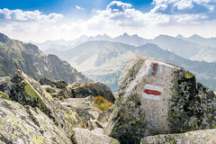 Trail in beautiful mountains Stock Photography