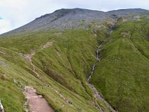 Trail on Ben Nevis,Scotland, West Highlands Royalty Free Stock Images