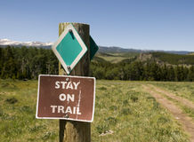 Trail in Big Horn Mountains Stock Images