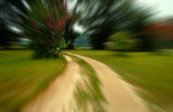 Trail Blur. On a summer day Royalty Free Stock Photo