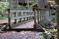 Trail Bridge. Foot bridge along the Falls Trail in Ricketts Glen State Park, Benton, PA, USA Stock Photos