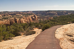 Trail into the Canyon. This is a trail into the canyon at Navajo National Monument royalty free stock image