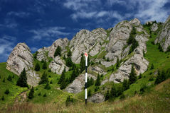 Trail in Carpathian mountains, Romania Royalty Free Stock Images
