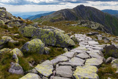 Trail on Chopok peak. Photo was taken in Low Tatras national park from Chopok peak, Slovakia stock photo