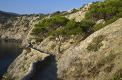 The trail in the cliffs. Royalty Free Stock Image