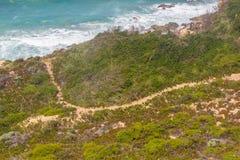 Trail in the Cliffs on the beach,  Vila Nova de Milfontes. Alentejo, Portugal Stock Image