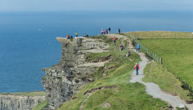Trail on Cliffs of Moher Royalty Free Stock Photography