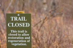 Trail closed Stock Photography