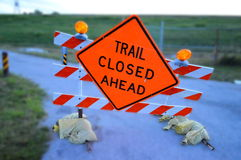 Trail Closed Ahead Sign Stock Image