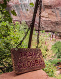 Trail Closed Royalty Free Stock Images