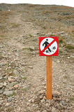 Trail closed sign Stock Images