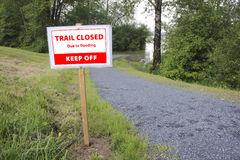 Trail Closed Sign Stock Image