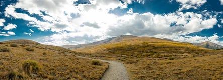 Trail in Colorado Mountain Panorama Stock Photos