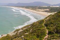 Trail in Costao do Santinho, Aranhas mountain. Florianopolis, Santa Catarina, Brazil Stock Photography
