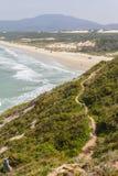 Trail in Costao do Santinho, Aranhas mountain. Florianopolis, Santa Catarina, Brazil Stock Image