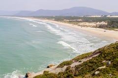 Trail in Costao do Santinho, Aranhas mountain. Florianopolis, Santa Catarina, Brazil Royalty Free Stock Image