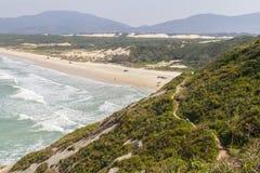 Trail in Costao do Santinho, Aranhas mountain. Florianopolis, Santa Catarina, Brazil Stock Images