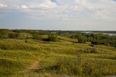 Trail at Cranberry Flats. A hiking trail at Cranberry Flats Conservation Area Saskatoon stock images