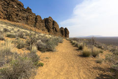 Trail in the Desert Royalty Free Stock Photography