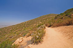 Trail on a desert mountain Royalty Free Stock Photos