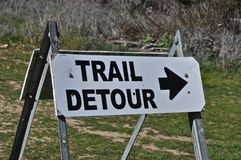 Trail Detour Royalty Free Stock Image