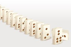 Trail of Dominos Stock Photos