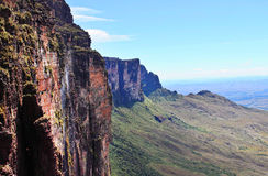 Trail Down From The Plateau Roraima Royalty Free Stock Images