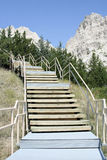 trail för hylla för park för badlandsklippanatur arkivfoto