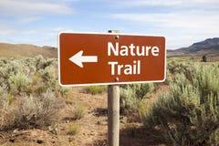 trail för områdesnaturfjärrtecken Arkivbild