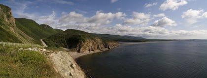 trail för scotia för park för nova för breton högland för cabotKanada udd nationell Royaltyfria Foton
