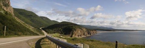 trail för scotia för park för nova för breton högland för cabotKanada udd nationell Arkivfoto
