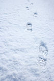 Trail of Foot Prints Royalty Free Stock Photo