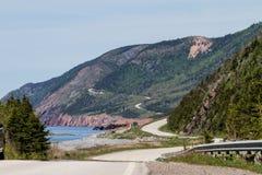 trail för scotia för park för nova för breton högland för cabotKanada udd nationell Royaltyfri Fotografi