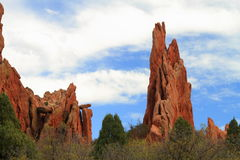 Trail through Garden of Gods Royalty Free Stock Photography