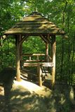 Trail Gazebo and Sign Stock Image