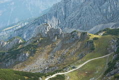 Trail through the German Alps Stock Photos