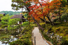 Trail of Ginkakuji temple at autumn, Kyoto Royalty Free Stock Image