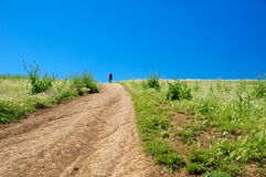 Trail going up, Caffarella, Roma, Italy royalty free stock image
