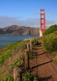 Trail by Golden Gate Bridge Royalty Free Stock Photography