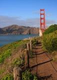 Trail by Golden Gate Bridge. Coastal trail by Golden Gate Bridge, San Francisco Royalty Free Stock Photography
