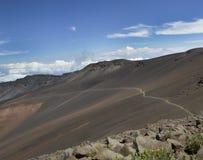 Trail in  Haleakala National Park; Maui, Hawaii Stock Photos