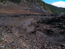 Trail Inside the Kilauea Iki Crater Royalty Free Stock Images