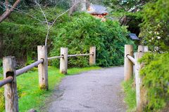 A trail in Japanese Tea Garden royalty free stock photo