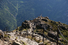 Trail in Karkonosze mouintains Royalty Free Stock Photography